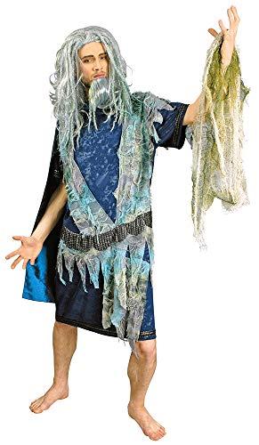 Poseidon Kostüm Gott des Meeres Gr. 46 48 - Tolles Meeres Neptun Kostüm für Karneval oder Mottoparty