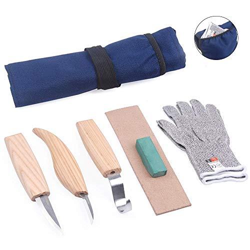 Kit di strumenti per intagliare il legno, scalpelli, coltello, cucchiaio, coltello da intaglio, coltello per principianti