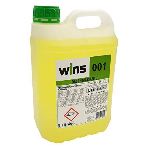 WINS 001 Desengrasante concentrado profesional 001 para multitud de superficies. Botella 5...