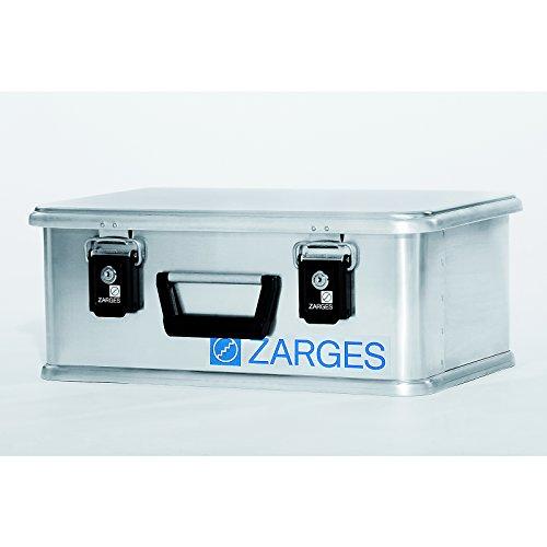 ZARGES Alu-Box MINI XS - Inhalt 24 l, Innen-LxBxH 450 x 290 x 180 mm - Aufbewahrungsboxen Alu-Transportboxen Alu-Koffer Lager- und Transportboxen Alu-Behälter Aluminium-mini-box