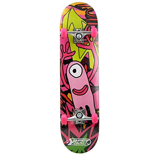 Best Sporting Skateboard, ABEC 3, max. Belastung 100 kg, Farbe:pink