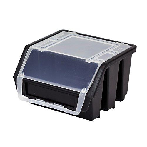 Stapelbox Stapelkiste Sortierbox Ergobox mit Deckel Gr. 1 schwarz Lager