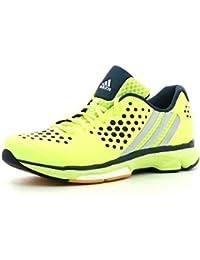 adidas Volley Response Boost W - Zapatillas para mujer, color lima / plata / azul marino, talla 39 1/3