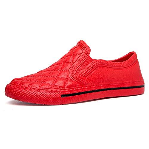 Uomo Donna Espadrillas Unisex Adulto Mocassini Scarpe Sneakers Nero Bianche Blu 36-45 Rosso