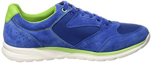 Geox U Damian A, Baskets Basses Homme Bleu - Blau (BLUE/FLUO GREENC4457)