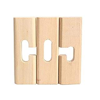 JOYfree Adult Intelligence Lock Wooden Block Luban Kong Ming Lock Adult Kids Brain Teaser Puzzle Educational Novel And Creative Toys