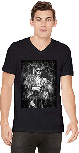 Rihanna Wilde Wild Men V-Neck T-Shirt Stylish Fashion Fit Custom Apparel by X-Large