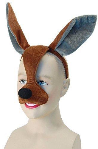 n Mädchen Jungen Animal Halloween Buch Kostüm Gesichtsmaske mit Ton Kostüm Outfit Zubehör - Känguru ()