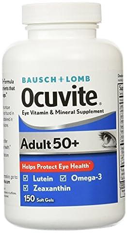 Bausch & Lomb Ocuvite Eye Vitamin Adult 50+ Formula - 150 Softgels