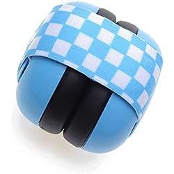 Sumferkyh Baby-Ohrenschützer Neugeborene Gummiband Baby Schalldichte Ohrenschützer Kind Baby Noise Ohrenschützer für 2 Monate Baby verfügbar Einstellbarer Kopfhörer (Farbe : Blau)