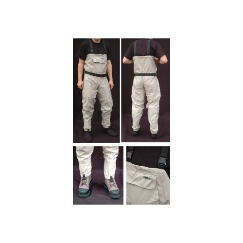 BISON BREATHABLE CHEST WADERS LARGE 60192