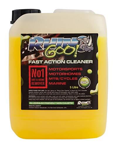 Rhino Goo! Fast Action Cleaner 5L - Nettoyant pour vélos et dégraisseur de chaînes pour VTT, vélos de Route, Motocross, quads et Motos de Route