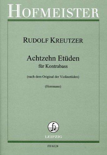 18 ETUEDEN - arrangiert für Kontrabass [Noten / Sheetmusic] Komponist: KREUTZER RODOLPHE
