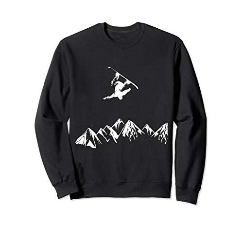 Rocky Mountain Snowboarder Catching Air Sweatshirt -