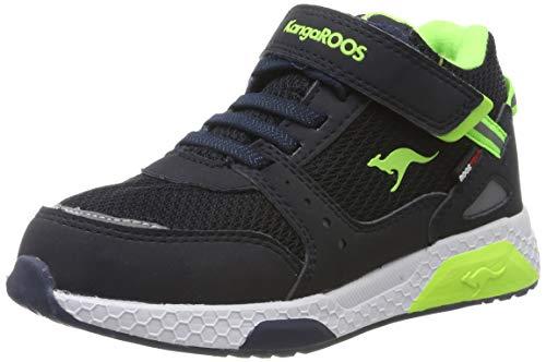 KangaROOS Unisex-Kinder Kadee Taro RTX Sneaker, Blau (Dk Navy/Lime 4054), 33 EU