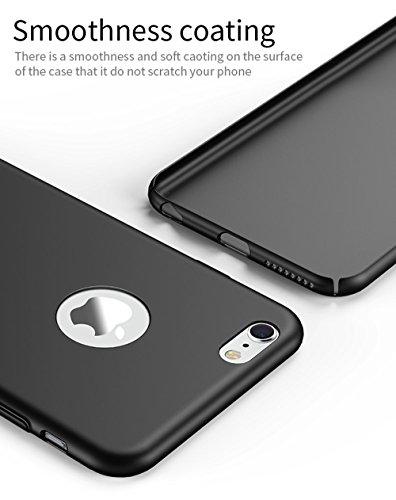 iPhone 6/6S case, Zfeibi rigida iPhone 6/6S cover [11,9cm] con piena protezione dello schermo in vetro temperato antigraffio leggero ultra-sottile per iPhone 6case grigio Grey Rose Gold