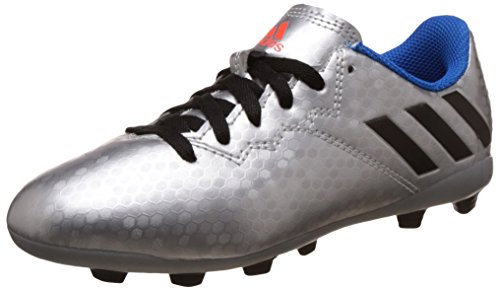 adidas Jungen Messi 16.4 Fxg J Fußballschuhe, UK Plata (Plamet / Negbas / Azuimp)