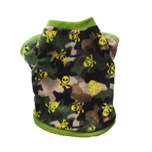 Schwarzer Leoparden Kostüm - Etophigh Pet Herbst Winter warme Mantel für Kleine mittelgroße Hunde Welpen Streifen Schädel Leopard druckt Schwarze Flecken Kostüm Multi Farben optional