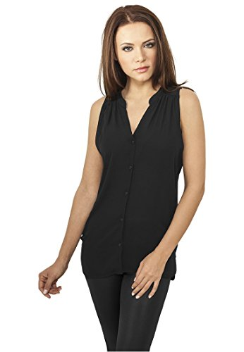 Urban Classics Ladies Sleeveless Chiffon Blouse Camicetta nero L