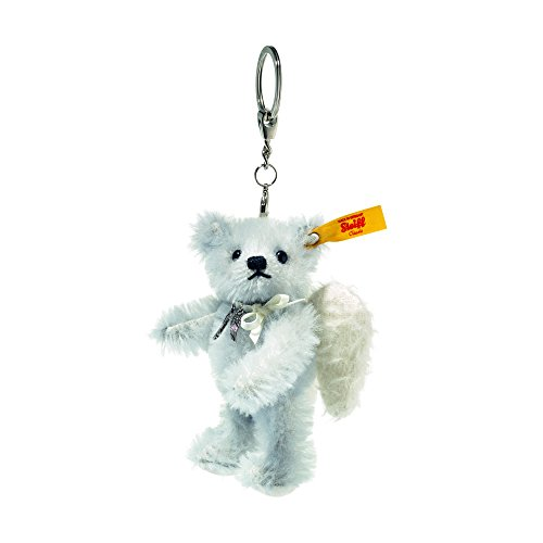 Steiff, Schlüsselanhänger, Teddybär, Engel Raphael, 11 cm, eisblau, Stoffteddybär
