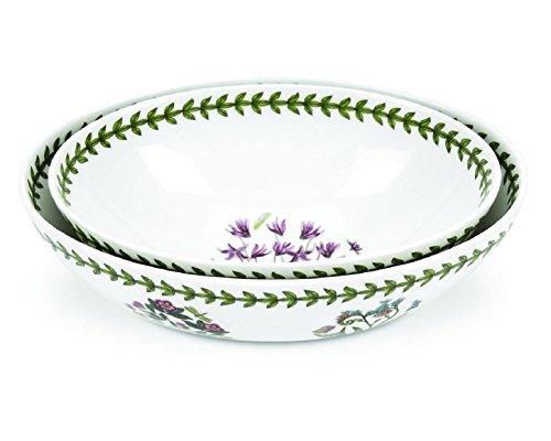 Portmeirion Botanic Garden Oval Nesting Bowls, Set of 2 by Portmeirion Oval Nesting Bowls