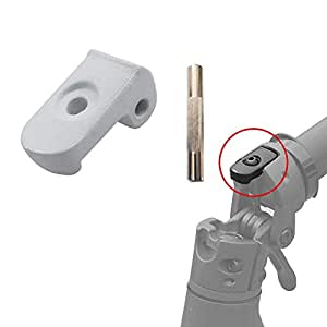 aibiku Faltende Schnalle + Stift für Xiaomi Mijia M365 Elektro Scooter - Electric Scooter Zubehör Einzelteile (Weiß)