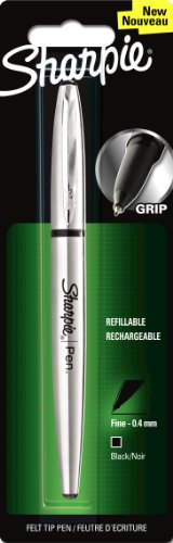 sharpie-1849740-fine-point-stainless-steel-grip-pen-black