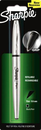 sharpie-1849740-griff-kugelschreiber-feine-spitze-edelstahl-schwarz