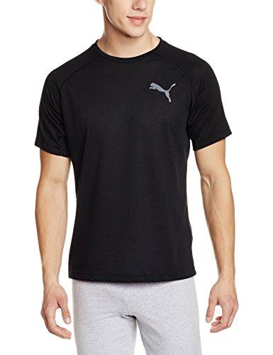 PUMA Herren Dri-Release SS Tee T-Shirt, Puma Black, S (Raglan Herren Puma)
