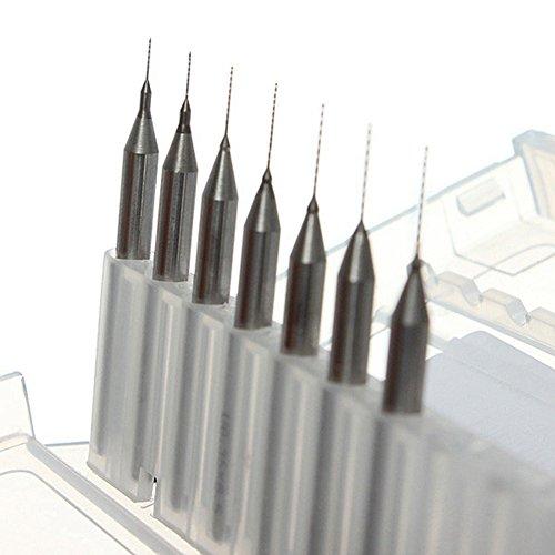 Hoen Macro en carbure de tungstène forets, 1/20,3cm Tige pour PCB, Dremel, bijoux, CNC, les métaux doux