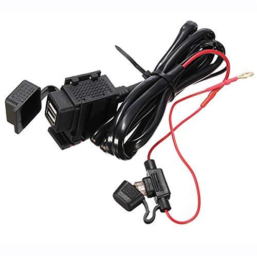 Preisvergleich Produktbild JDDREU Parts,  Motorrad Dual USB Ladegerät 2.1A wasserdicht