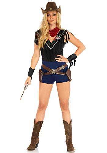 Leg Avenue LO85644 Wild West Sheriff Kostüm, Mehrfarbig, Small (EUR 36)