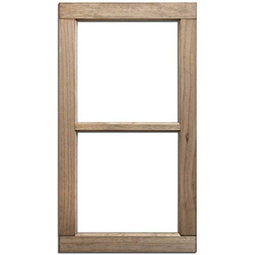 Unbekannt Flasche Gap retten 2-pane Fenster Frame-Weathered Holz 71cm x 16x 1,25