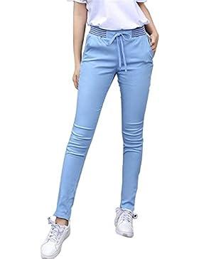 Pantalones Mujer Largas Elegante Primavera Otoño Lápiz Pantalones De Tiempo Libre Tendencia Elastische Taille...