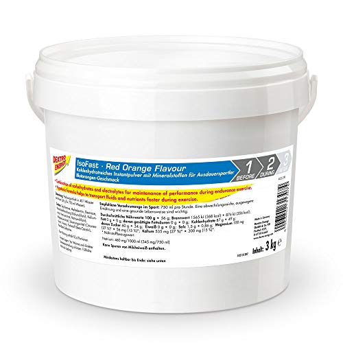 Sportdrink Pulver von Dextro Energy | 3000g Hypotonisches Getränke Pulver Red Orange | Iso Fast Pulver | Isotonische Getränke Alternative