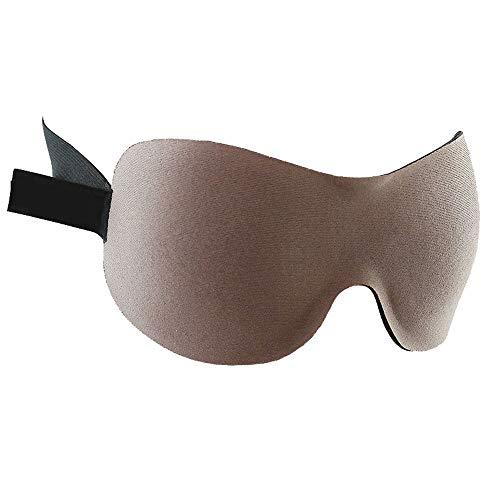 ASDFNF (Zwei Paare Schlafaugenmaske Schlaf Schattierung Atmungsaktiv 3D Stereo Männer Und Frauen Dünne Schattierung Artefakt (Color : Brown)