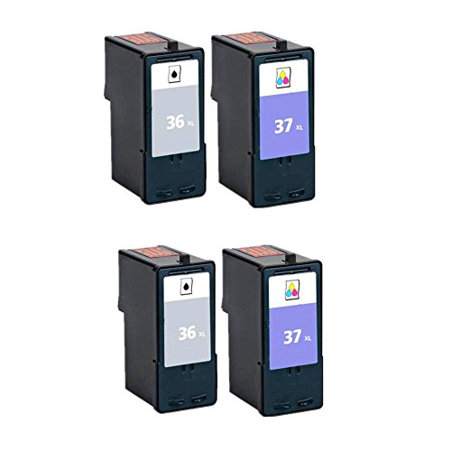Oyat® Lexmark 36 & Lexmark 37 Kompatible Druckerpatronen Als Ersatz für Lexmark...