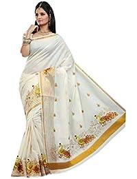 Rsv Fabrics Cotton Kerala Kasavu Zari Saree With Running Blouse