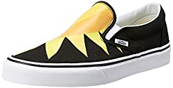 Vans Unisex Classic Slip-On (Sunshine) Black Loafers and Moccasins - 6 UK/India (39 EU)