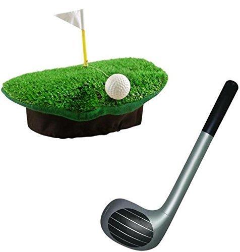 Kostüme Sport (Sport Kostüm - Verrückter Golf Hut und 92cm Aufblasbarer Golfschläger Sport-)
