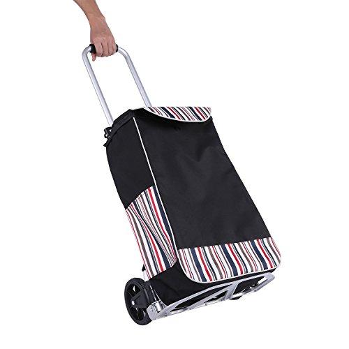 Meditool 38,5L klappbar Einkaufstrolley 34,5x38x68-96CM Lebensmittel Einkaufswagen180LBs Handwagen (Push Cart Für Lebensmittel)