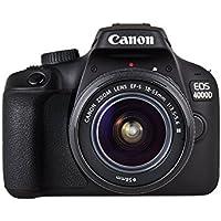 Canon EOS 4000D DSLR Kamera - mit Objektiv EF-S 18-55mm III Gehäuse Body (18 MP, DIGIC 4+, 6,8 cm (2,7 Zoll) LCD Display…