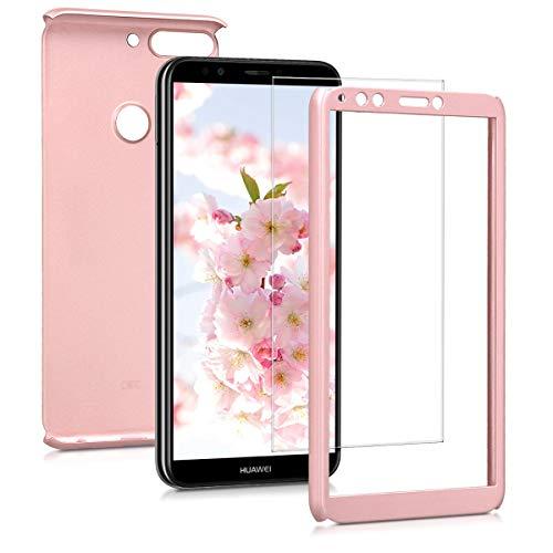 kwmobile Huawei Y7 (2018)/Y7 Prime (2018) Hülle - komplette Abdeckung - inkl. Bildschirm Schutzglas - Case für Huawei Y7 (2018)/Y7 Prime (2018)