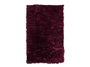 KC-handel tapis flokati carré tapis violet 70 x 110 cm