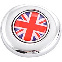 9 MOON Red/Blue UK Union Jack Design Engine Start Push Start Cap Cover fit For 2nd Gen MINI Cooper
