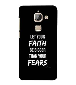 For LeEco Le 2 faith Printed Cell Phone Cases, fear Mobile Phone Cases ( Cell Phone Accessories ), quotes Designer Art Pouch Pouches Covers, motivational Customized Cases & Covers, inspirational Smart Phone Covers , Phone Back Case Covers By Cover Dunia