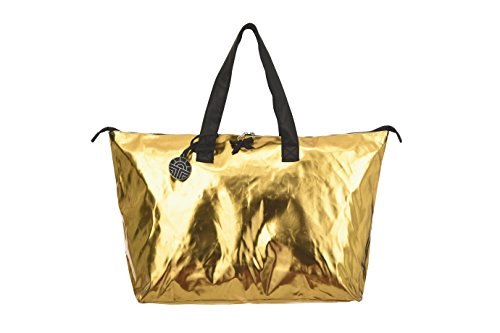 Féraud Paris Damen Strandtasche mit Reißverschluss Naceva Beach Gold Lack 3175726