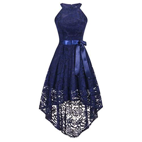 Resplend Damen Formales Abschlussball-Party-Kleid Ärmellos Spitze Trägerkleid Off -