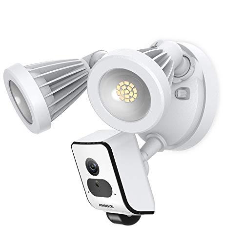 AI Floodlight Cam,ANNKE 1080P HD Sicherheitskamera mit Flutlicht,LED Strahler Überwachungskamera für Außenbereich,Sirene und Gegensprechfunktion,Cloud-Speicher verfügbar (Wifi-cam-system)