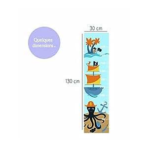 Juju & Compagnie - Sticker toise pirates dimension toise - 130x30 cm